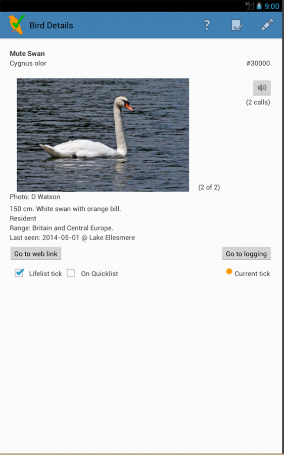 WP & UK Birding Checklist- screenshot