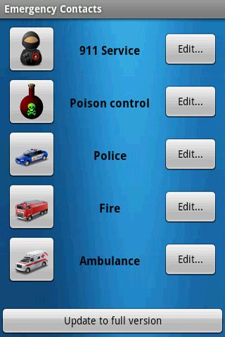Emergency Contacts - screenshot