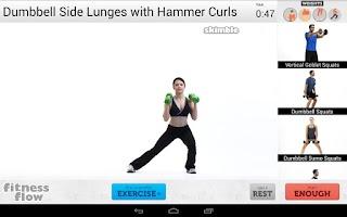 Screenshot of Fitness Flow