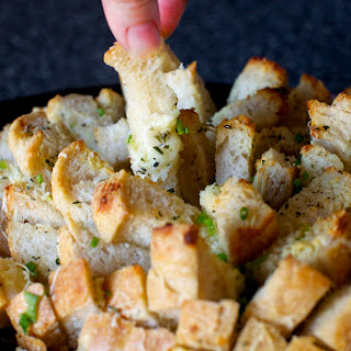 Garlicky Party Bread with Herbs and Cheese.
