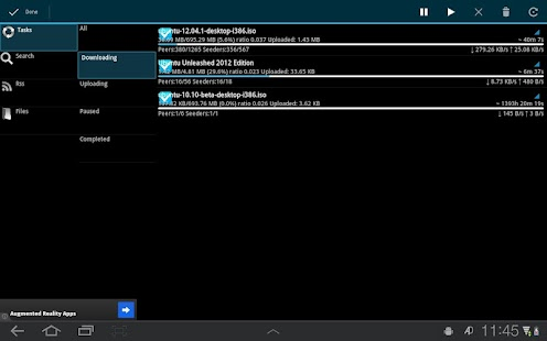 aDownloader - torrent download- screenshot thumbnail