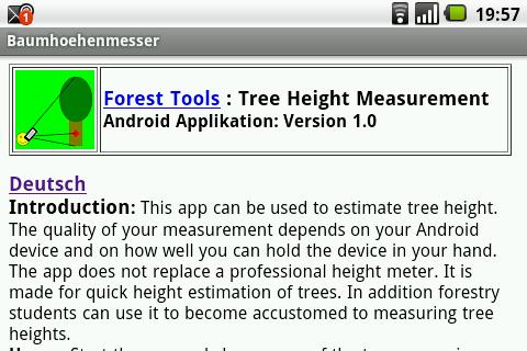 Tree Height Measurement- screenshot