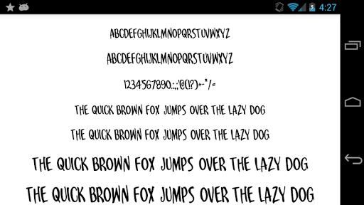 Fonts for FlipFont 50 25