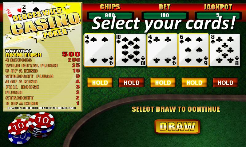Deuces Wild Casino Poker - screenshot