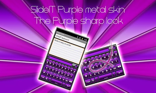 SlideIT Purple Metal Skin - screenshot thumbnail