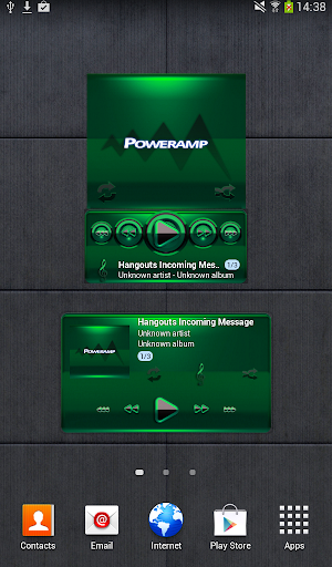 Poweramp widget - BLACK Green