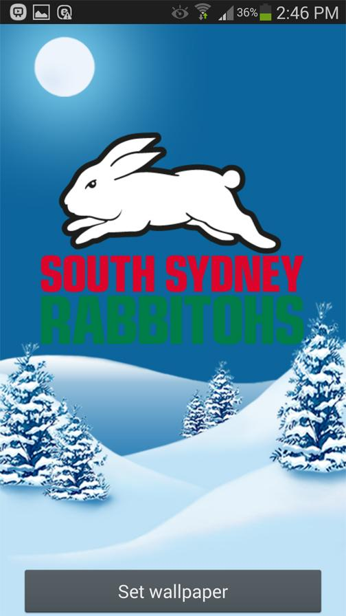 South Sydney Rabbitohs Snow- screenshot