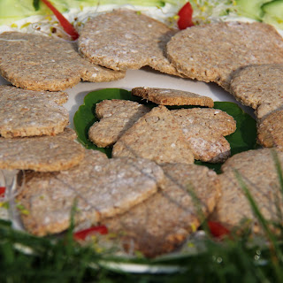 Home-made Savoury Oatcakes (a great cracker for dips & pates)