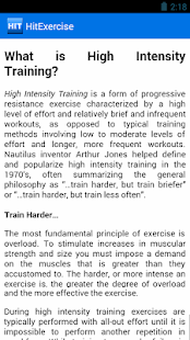 HIIT Exercise Training Guide - screenshot thumbnail