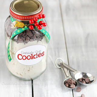 Healthy Chocolate Chip Cookies in a Jar