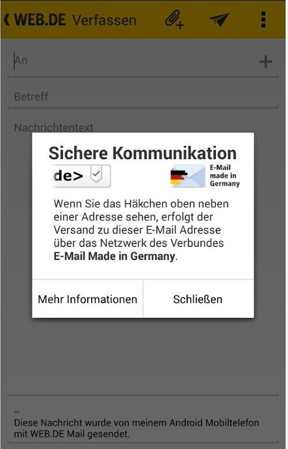 WEB.DE Mail - screenshot