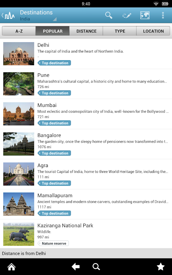 India Travel Guide by Triposo - screenshot