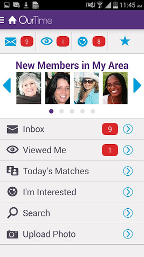 OurTime Dating for Singles 50+ screenshot