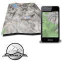 DOLOMITE mountain range map