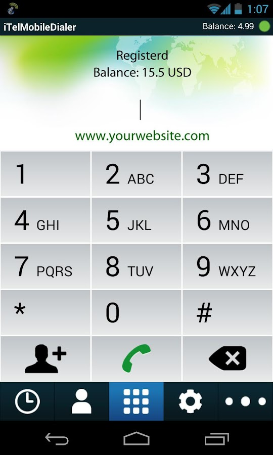 iTel Mobile Dialer Express - screenshot