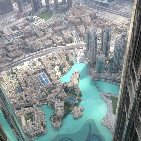 Burj al Khalifa - At the top by Shelina Khimji - City,  Street & Park  Skylines ( building, at the top, the dubai mall, tallest, burj khalifa,  )