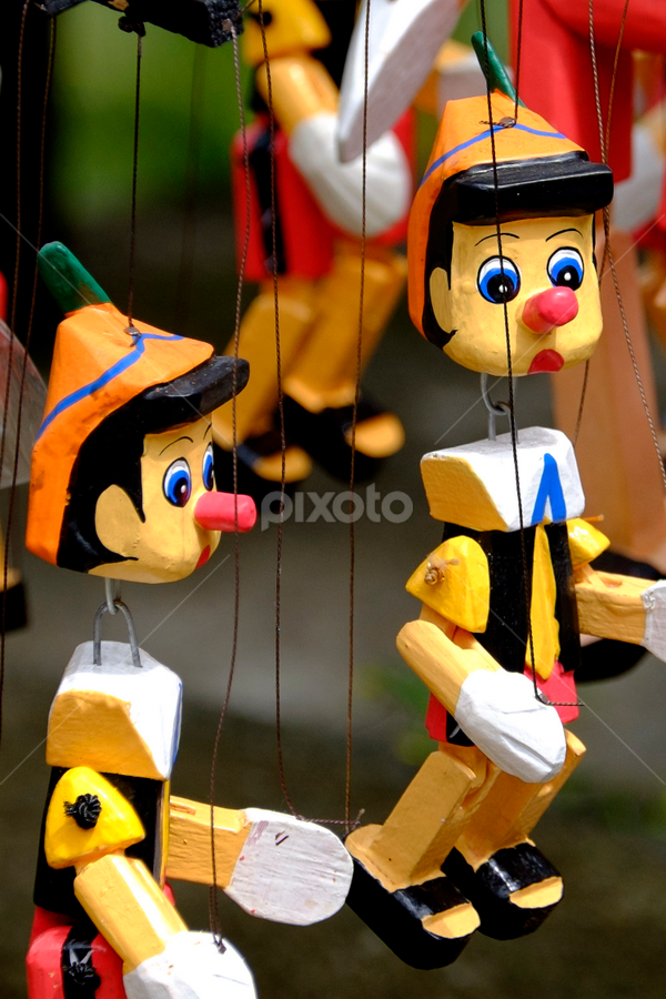 Pinocchio by Ferdinand Ludo - Artistic Objects Toys ( pinocchio, bali, indonesia, puppet, toy, object,  )
