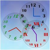 白黒アナログ時計
