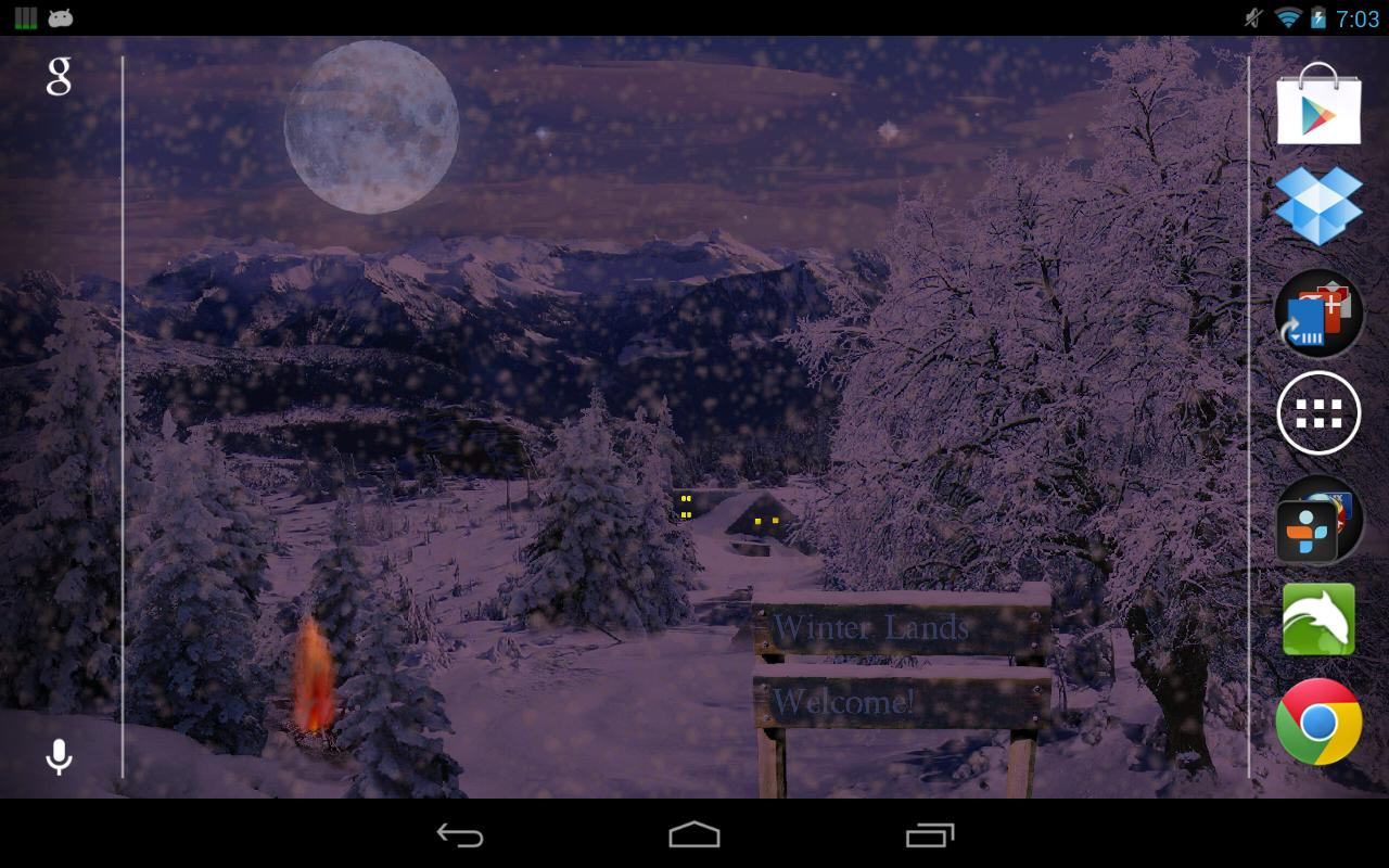 Winter Snow Live Wallpaper- screenshot