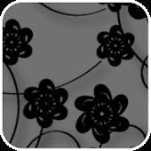 Floral Print Silver Theme