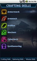 Screenshot of SWTOR CrewSkills Companion