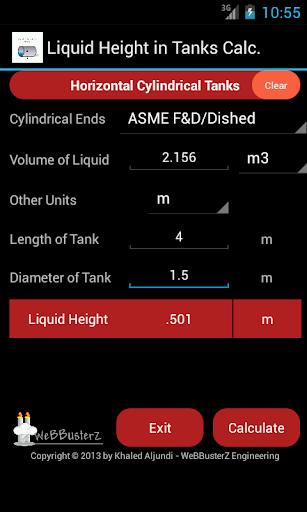 Liquid Height in Tanks