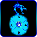 Blue Neon Dragon Go Locker icon