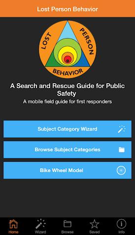 Lost Person Behavior Screenshot