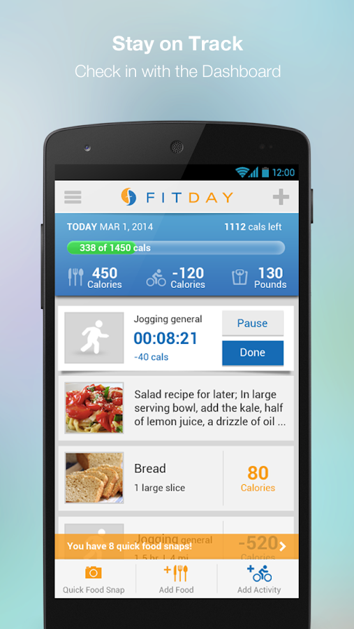 FitDay- screenshot