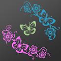 Neon Butterflies LW icon