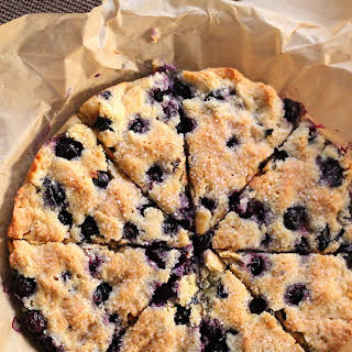 Gluten Free Blueberry And Coconut Scones.