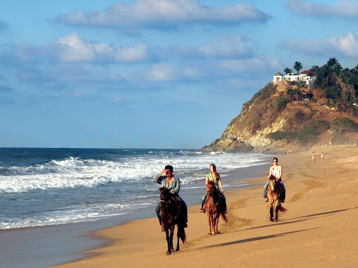 San-Pancho-Horses-Nayarit-Mexico - Horseback riding near San Pancho, north of Puerto Vallarta, Mexico.