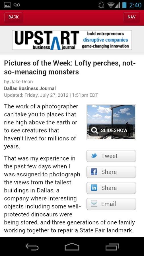 The Dallas Business Journal- screenshot
