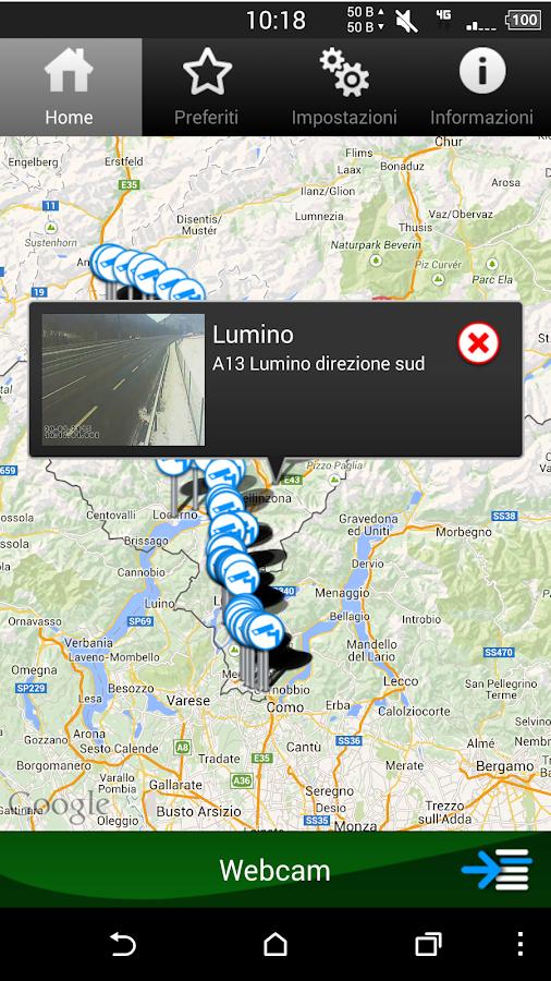 Viabilità Ticino- screenshot