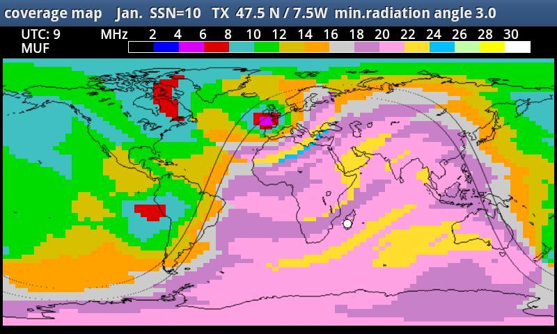 MyHF_Map HAM Radio  MUF maps- screenshot