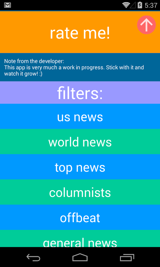 Headlinr - Random News Reader- screenshot