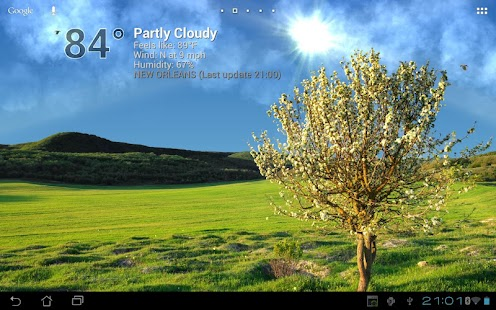 True Weather LWP Screenshot
