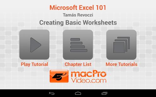 Microsoft Excel 101