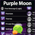 GO SMS Pro Purple Moon icon