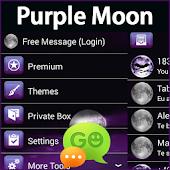 GO SMS Pro Purple Moon