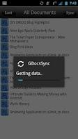 Screenshot of GDocs Sync