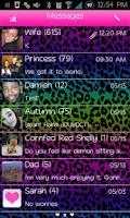 Screenshot of Go SMS Themes: Rainbow Cheetah