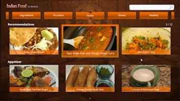 Screenshot of Indian food for Google Tv