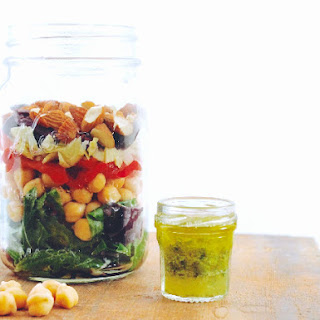 Greek Rainbow Salad in a Jar