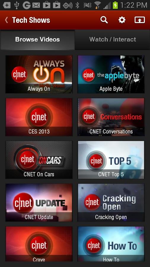 CNET Video+ - screenshot