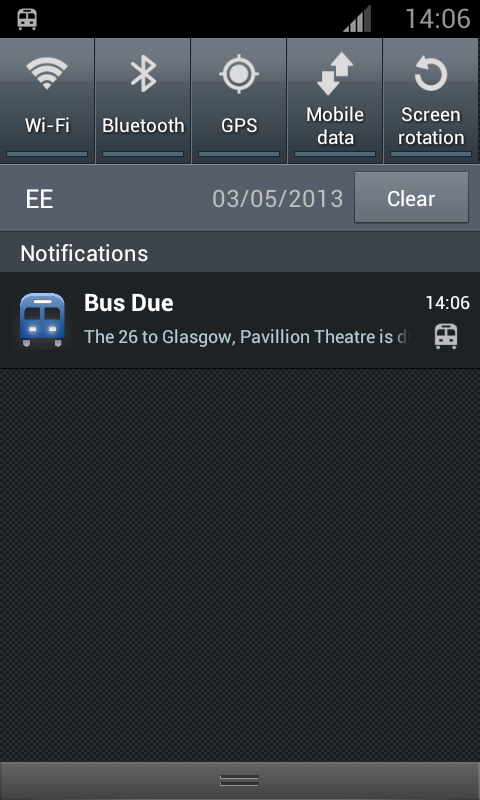 Glasgow Bus Finder- screenshot