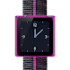 Purple Nano Wrist Watch Clock