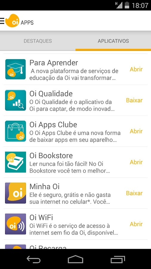 Oi Apps- screenshot