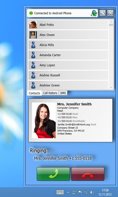 Remote Phone Call Trial- screenshot