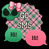GO SMS - Girly Skulls 6
